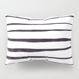 Black Ink Linear Experiment Pillow Sham