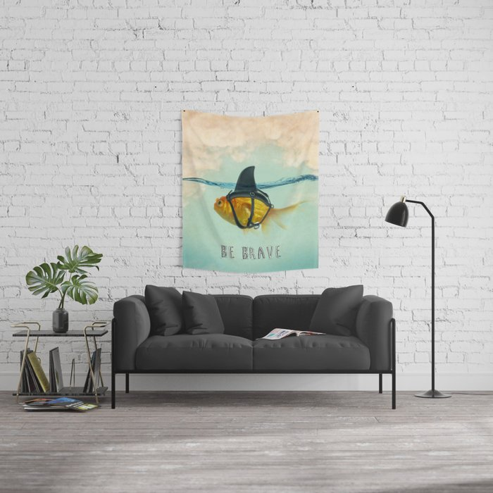 Be Brave - Brilliant Disguise Wall Tapestry