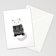Cat with pattern  Stationery Cards
