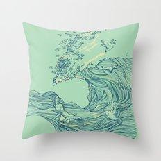 Ocean Breath Throw Pillow