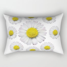 ALL WHITE SHASTA DAISY FLOWERS ART Rectangular Pillow