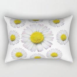 ALL WHITE SHASTA DAISY FLOWERS ART Rectangular Pillow