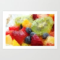 fruits Art Prints featuring Fruits by Veronika