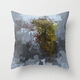 Cracked Delusions Throw Pillow