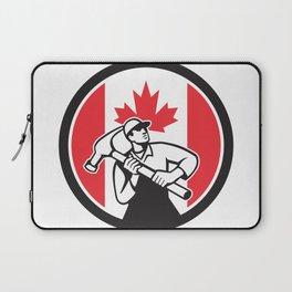 Canadian Handyman Canada Flag Icon Laptop Sleeve