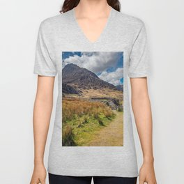 Tryfan and the Ogwen Valley Wales Unisex V-Neck