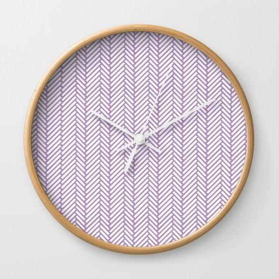 Herringbone Orchid Wall Clock