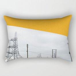 Orange Pylons Rectangular Pillow