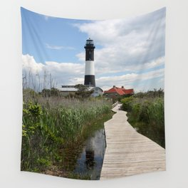 Fire Island Light With Reflection - Long Island Wall Tapestry