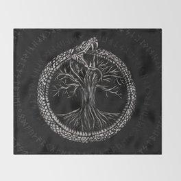 Ouroboros with Tree of Life Throw Blanket
