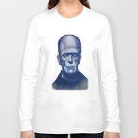 frankenstein Long Sleeve T-shirts featuring frankenstein by FlacoGarcia