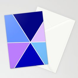 Just two colors 22 blue Stationery Cards