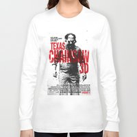 texas Long Sleeve T-shirts featuring TEXAS CHAINSAW by Maioriz Home