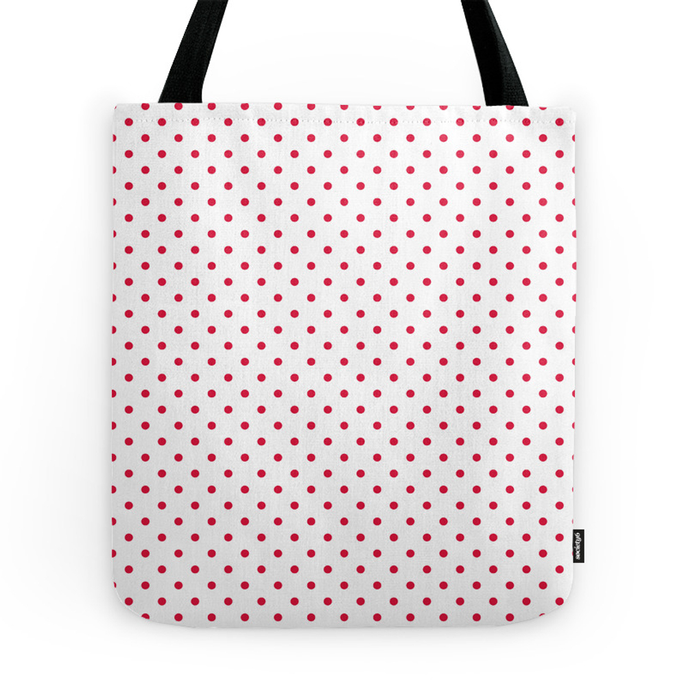 Dots (Crimson/White) Tote Purse by 10813apparel (TBG7947413) photo