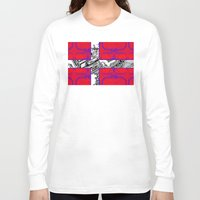 denmark Long Sleeve T-shirts featuring circuit board Flag (Denmark) by seb mcnulty