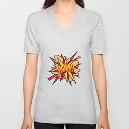 Comic Book POW! Unisex V-Neck