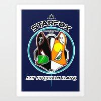 starfox Art Prints featuring Mercernary Unit: STAR FOX by RuiShi