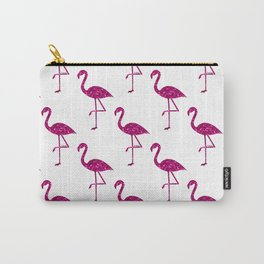 Sparkly flamingo Pink glitter sparkles pattern Carry-All Pouch