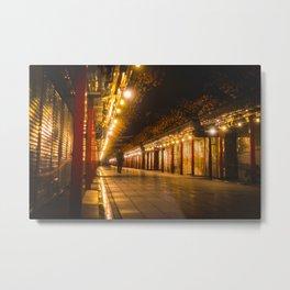 Golden Shimmer - Asakusa - Metal Print