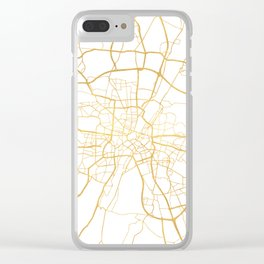 MUNICH GERMANY CITY STREET MAP ART Clear iPhone Case