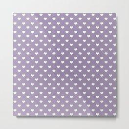 Lavender 4 hearts Metal Print
