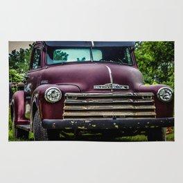 Vintage Old Truck 1950's Rug