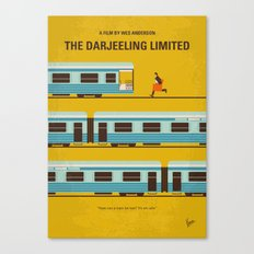 No800 My The Darjeeling Limited minimal movie poster Canvas Print