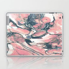 Coral and Navy Marble Laptop & iPad Skin