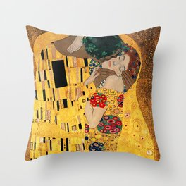 The Kiss - For Interracial Couples Throw Pillow