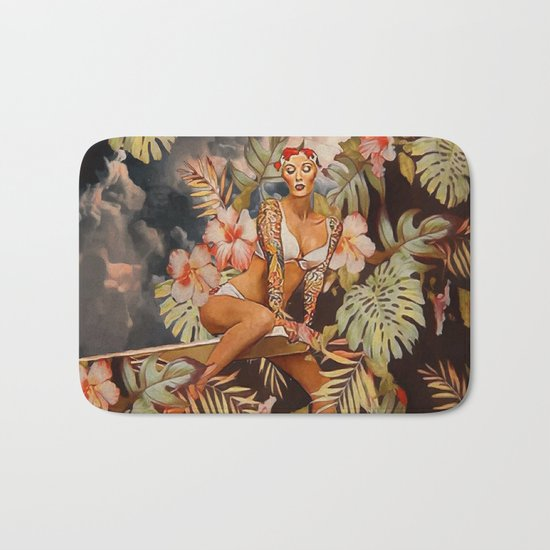 Swimming in the jungle Bath Mat