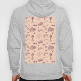 Sweet pattern with various desserts. Hoody