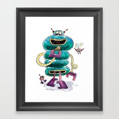 The Cookie-Powered Robot is Fueling Up Framed Art Print