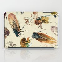 rug iPad Cases featuring summer cicadas by Teagan White