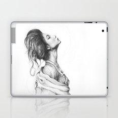 Pretty Lady Illustration Woman Portrait Beauty Laptop & iPad Skin