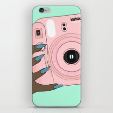 pink instax iPhone & iPod Skin