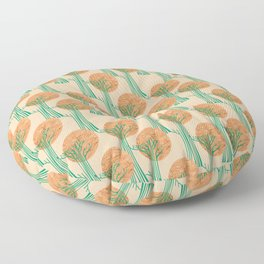 New Beginnings - Bronze & Green Floor Pillow