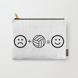 Volleyball Makes Me Happy Carry-All Pouch