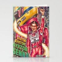 senna Stationery Cards featuring Ayrton Senna do Brasil by Renato Cunha