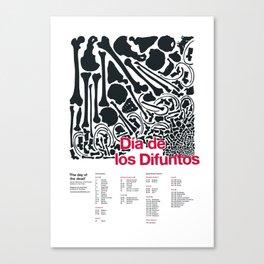 Día de los Difuntos (Day of the Dead) Canvas Print