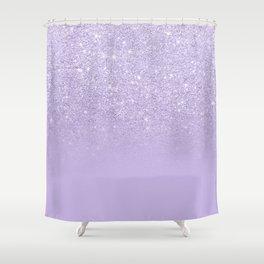 Stylish purple lavender glitter ombre color block Shower Curtain