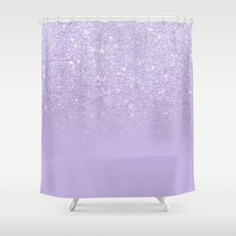 Stylish purple lavender glitter ombre color block Shower Curtain