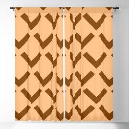 Geometry No. 3 -- Orange Blackout Curtain