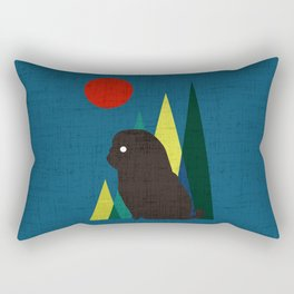 Waiting for you Black Pug Rectangular Pillow