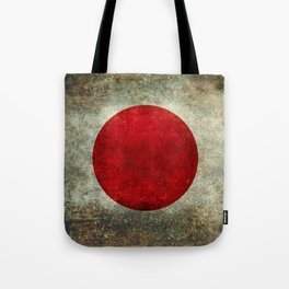 Japanese Flag in grungy retro style Tote Bag