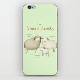 The Sheep Family iPhone Skin
