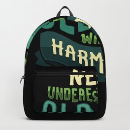 Old Man With Harmonica - Gift Backpack