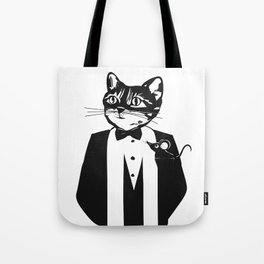 Cat in a dinner jacket Tote Bag
