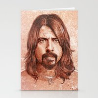 dave grohl Stationery Cards featuring Dave Grohl by Renato Cunha