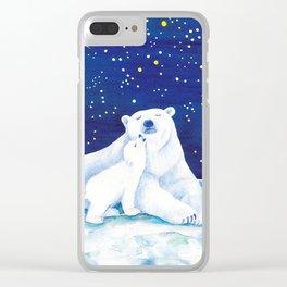 Polar bears, arctic animals Clear iPhone Case