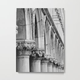 Doges Palace pillars and arches, Venice Metal Print